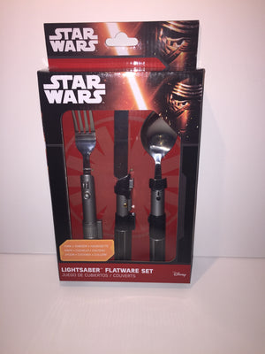 Star Wars Yoda Darth Vader and Luke Lightsaber Flatware Set New With Box