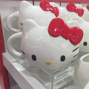 Universal Studios Sanrio Hello Kitty Red Bow Ceramic Coffee Latte Mug New