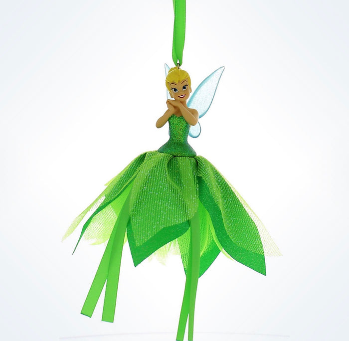 disney parks christmas tinker bell tulle ornament new with tag
