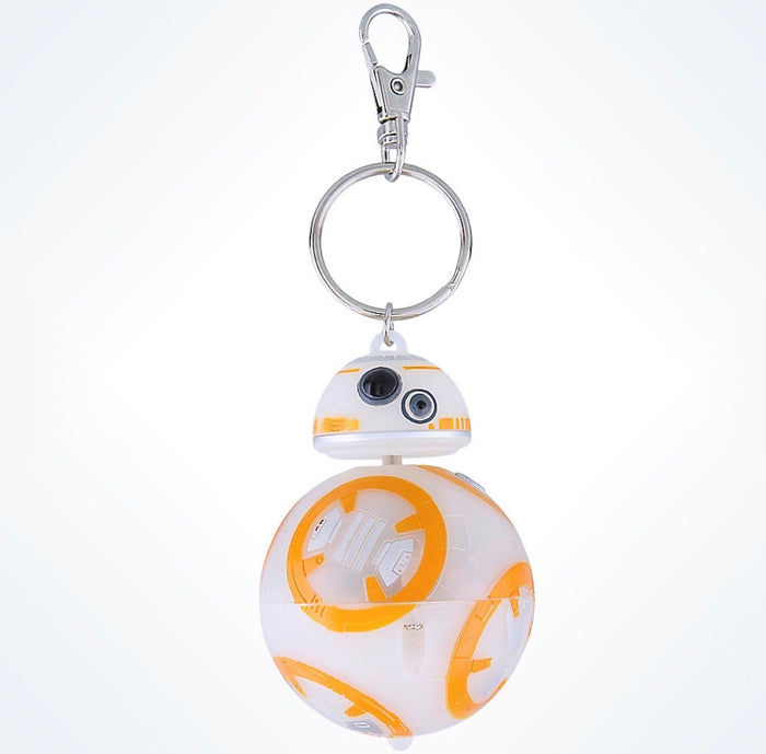 Disney Parks Star Wars BB-8 Light-up Plastic Keychain New with Tags