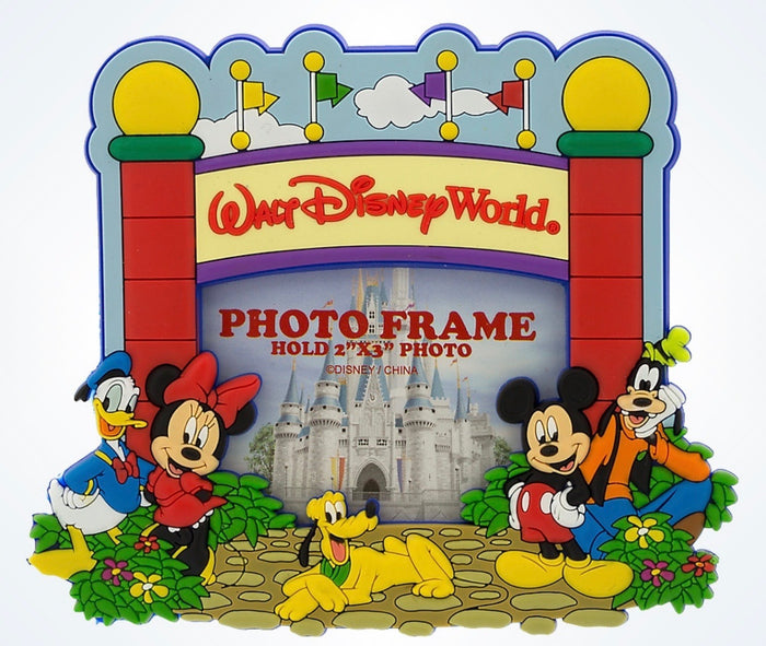 Disney Parks Walt Disney World Mickey & Pals Gate Photo Frame 2x3 Magnet New