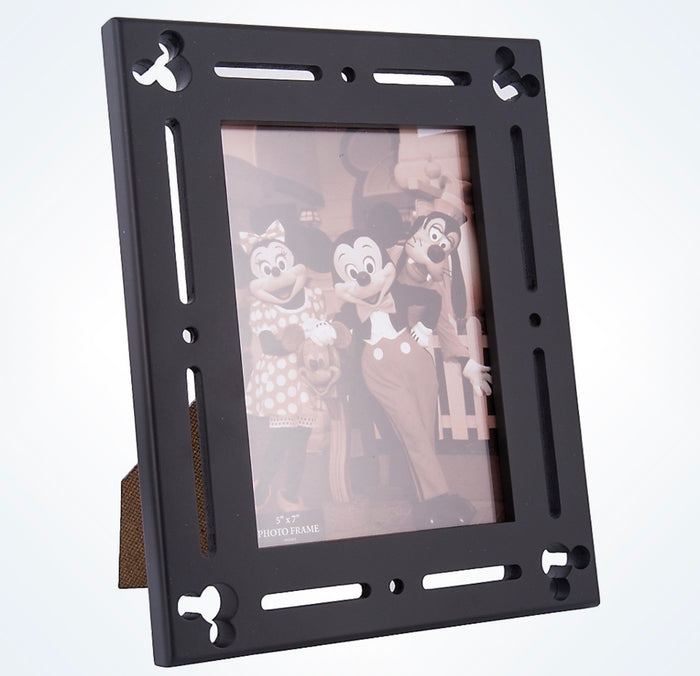 Disney Parks Mickey Mouse Icons Black Wood 5x7 Photo Picture Frame New
