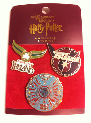Universal Studios Harry Potter Quidditch World Cup Pin Set New With Card