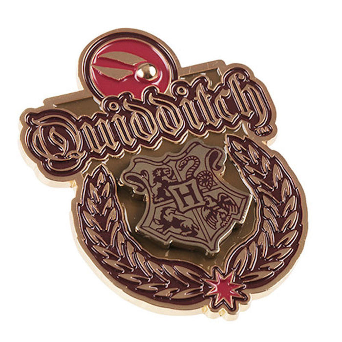 Universal Studios Harry Potter Hogwarts Quidditch Crest Pin New With Card