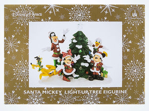 Disney Parks Mickey & Friends Light-Up Christmas Tree Figurine New with Box