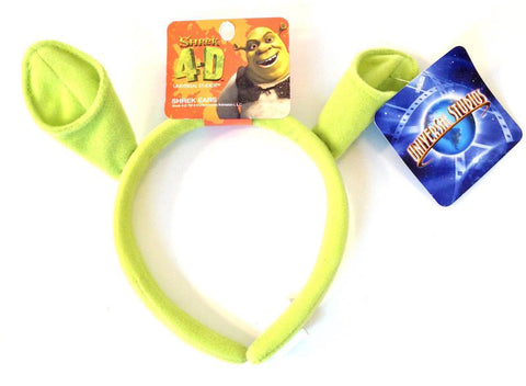 Universal Studios Shrek 4-D Ears Headband Plush New with Tags