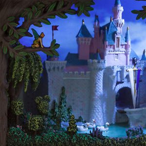 Disney Disneyland 60th Sleeping Beauty Castle Gallery of Light Olszewski New Box - I Love Characters