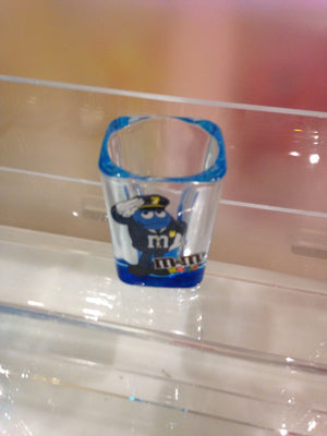 M&M's World Blue Character as Policeman Shot glass New