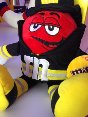 M&M's Red Character as Fireman Soft Plush New with Tags