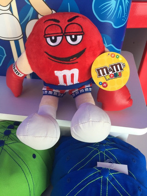 M&M's World Red Character as Boxer Soft Plush New with Tags