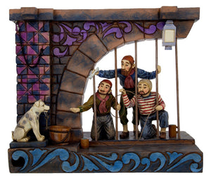 Disney Jim Shore Traditions Figure Pirates of the Caribbean Jail Scene New Box