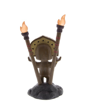 Disney Resort Polynesian Village Tiki Totem Statue Figure Light Up Trader Sam