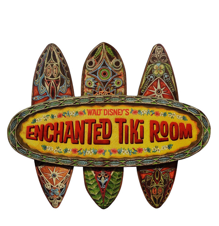 Walt Disney World Enchanted Tiki Room Disneyland Replica Sign Wall Plaque New