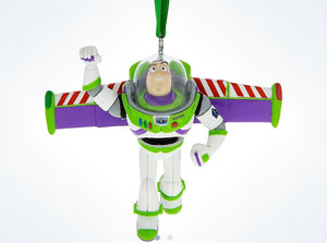 Disney Parks Toy Story Buzz Lightyear Resin Christmas Ornament New with Tags