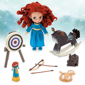 Disney Animators' Collection Merida Mini Doll Play Set 5'' New with Case - I Love Characters