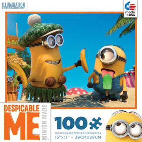 Despicable Me Minions Popsicle 100 pcs Jigsaw Puzzle Ceaco New with Box - I Love Characters