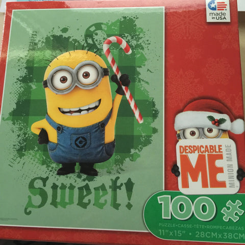 Despicable Me Minion Made Sweet Holiday 100 pcs Jigsaw Puzzle Ceaco New with Box - I Love Characters