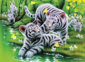 Furry Friends Tiger Cubs 100 pcs Jigsaw Puzzle Ceaco New with Box