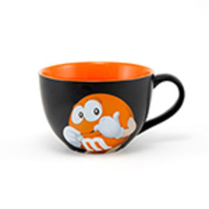 M&Ms World Orange Character Cappuccino Mug New