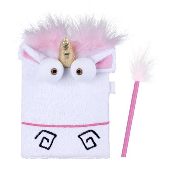 Universal Studios Despicable Me Plush Unicorn Child Diary Journal New with Tags