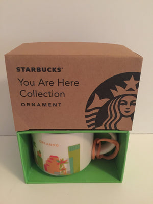 Starbucks Coffee You Are Here Orlando Ceramic Mug Ornament New with Box