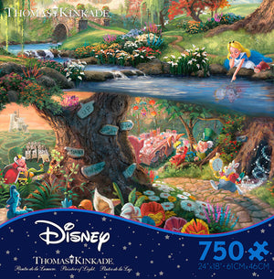 Disney Thomas Kinkade Alice in Wonderland 750 Pieces Ceaco Puzzle New with Box
