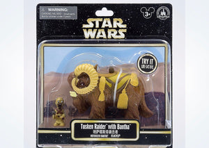 Disney Parks Star Wars Tusken Raider & Bantha Motorized Figure New with Box
