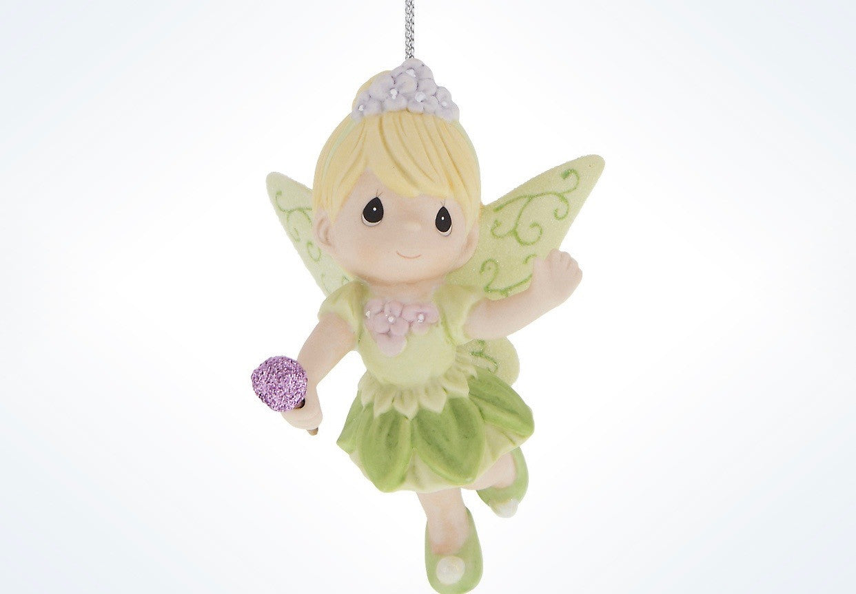 Christmas Tinkerbell.Disney Precious Moments Tinkerbell Porcelain Christmas Ornament New With Tags