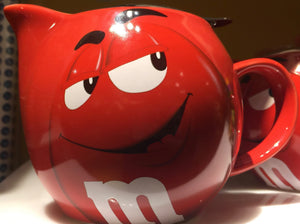 M&M's World Red Character Teapot New