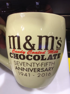 M&M's World 75th Anniversary Habor Retro Ceramic Coffee Mug New