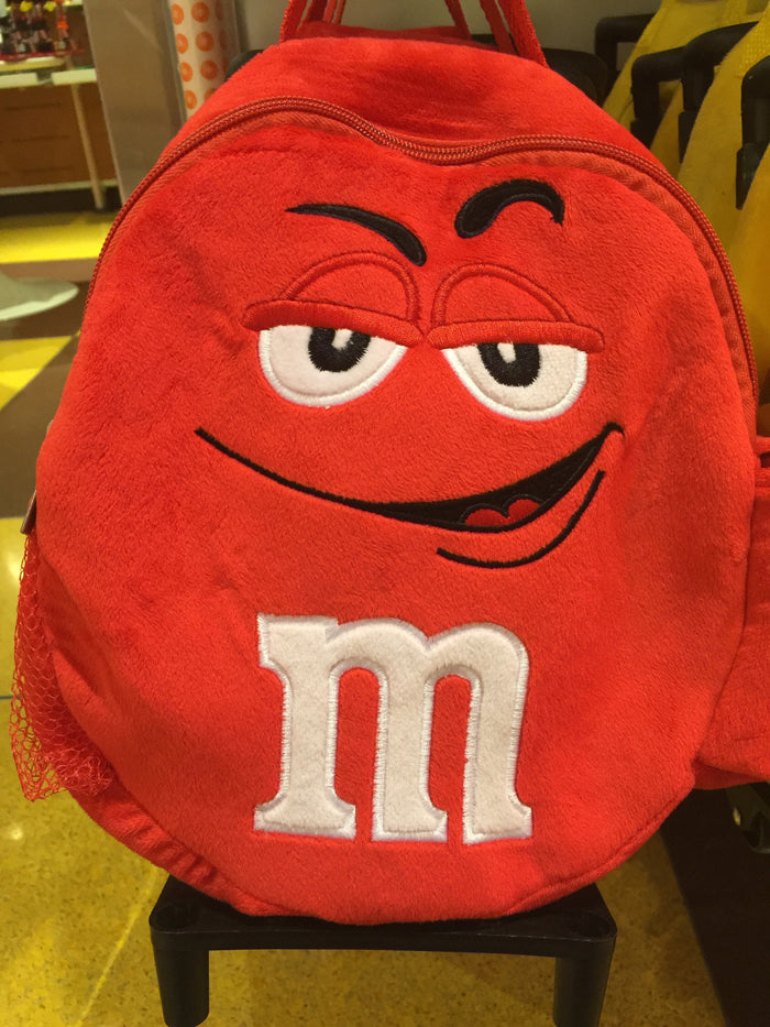 M&M's World Red Character Plush Backpack Trolley For Child New with Tags