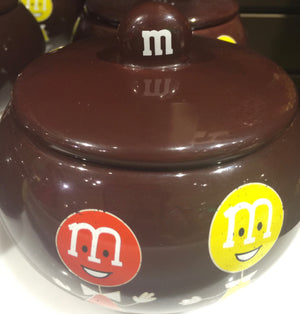 M&M's World 75th Anniversary Ceramic Candy Dish Retro with Lid New