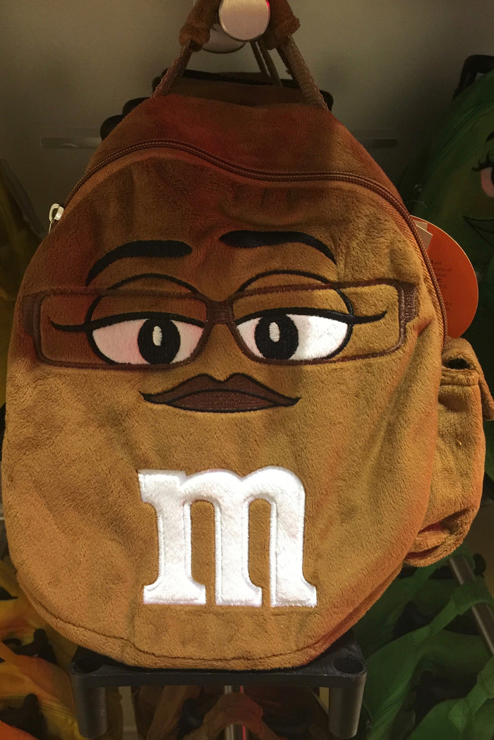M&M's World Brown Character Plush Backpack Trolley For Child New with Tags