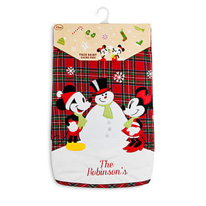 Disney Store Mickey & Minnie Share the Magic Holiday Tree Skirt New with Card