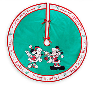 Disney Store Santa Mickey & Minnie Storybook Holiday Tree Skirt New with Card