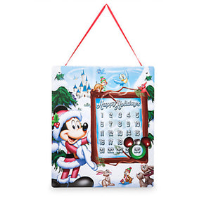 Disney Store Santa Mickey Storybook Holiday Magnetic Advent Calendar New w Tags