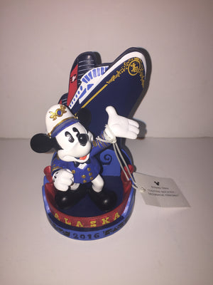 Disney Cruise Line Alaska 2016 Mickey Captain Photo Clip Frame New with Tags - I Love Characters
