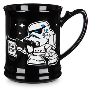 Disney Parks Star Wars Stormtrooper Cartoon Graphic Ceramic Coffee Mug New