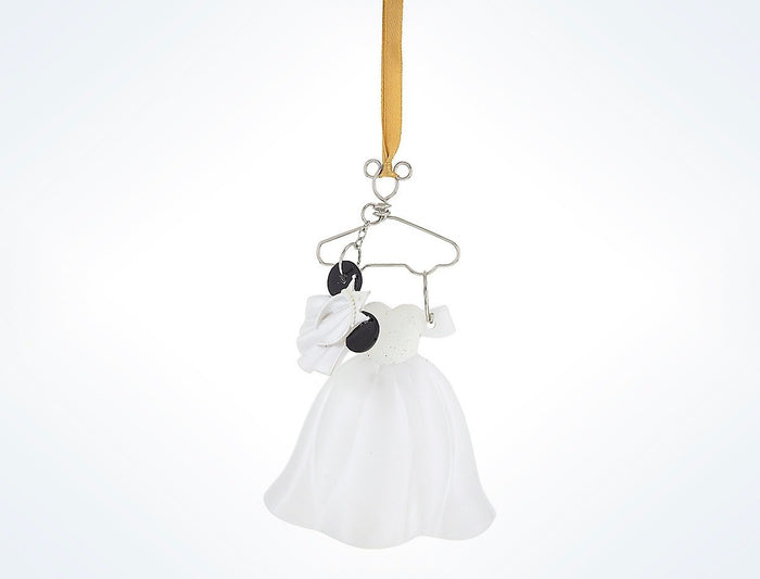 Disney Parks Wedding Bride Resin Costume Holiday Ornament New with Tags