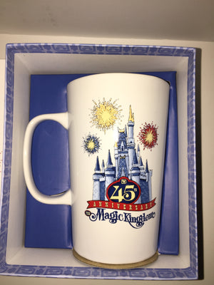 Disney Parks Starbucks 45th Magic Kingdom Ceramic Coffee Mug New with Box
