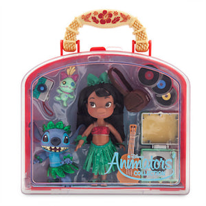 Disney Store Animators' Collection Lilo & Stitch Mini Doll Play Set 5'' New Case