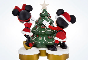 Disney Parks Mickey & Minnie Resin Holiday Stocking Holder New with Tags