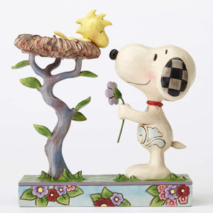Peanuts Snoopy with Woodstock in Nest Jim Shore Resin Figurine New with Box
