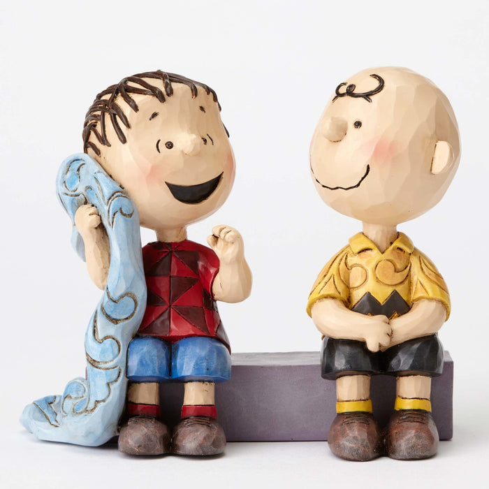 Peanuts Charlie Brown & Linus Sidewalk Jim Shore Resin Figurine New with Box