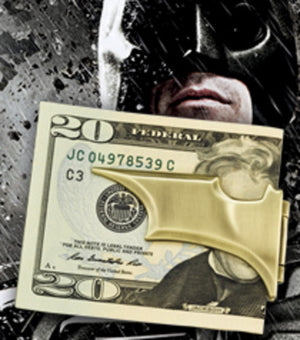 The Dark Knight Rises - Batarang Money Clip Gold New