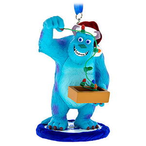 Disney Parks Sulley with Lights Christmas Holiday Resin Ornament New with Tags