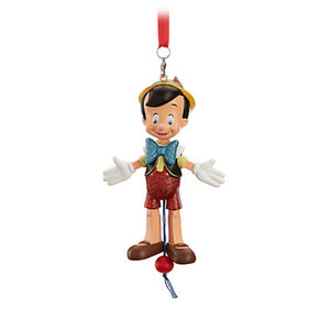 Disney Parks Pinocchio Articulated Figural Christmas Ornament New with Tags
