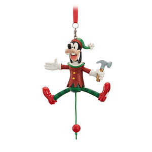 Disney Parks Goofy Articulated Figural Christmas Resin Ornament New with Tags