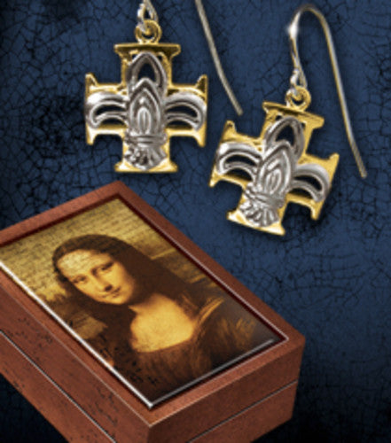 The da Vinci Code - Fleur De Lys Earrings