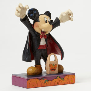 Disney Jim Shore Halloween Count Mickey Vampire Resin Figurine New with Box